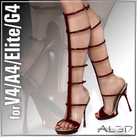 Trendy Sandals3 for V4.2/A4/Elite/G4 3D Figure Assets _Al3d_