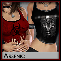 Arsenic for LD Tank Top 3D Figure Essentials Silver