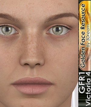 Golden Face Resouce 1-V4 3D Figure Assets 3Dream