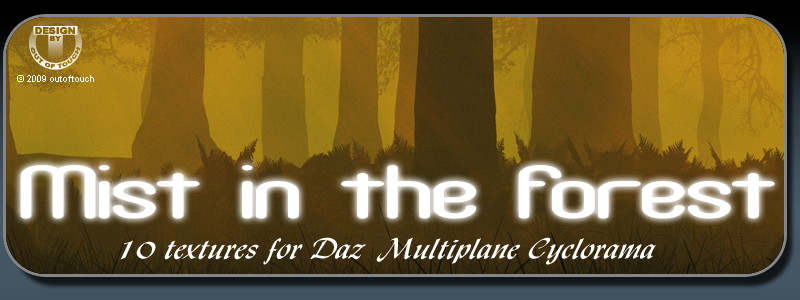 MIST IN THE FOREST for Daz Multiplane Cyclorama