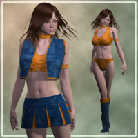 V4RQ outfit for V4A4 3D Figure Essentials kobamax