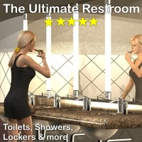 The Ultimate Restroom by 3-D-C 3D Models 3D Figure Assets 3-d-c