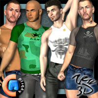 Casuals Pack2 for CLOTHIM Hybrid  zew3d