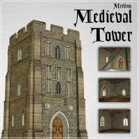 Merlin's Medieval Tower 3D Models 3D Figure Essentials Merlin_Studios