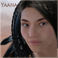 Yaana for V4.2 3D Figure Essentials moonbunnie