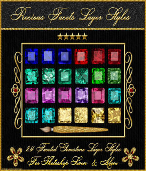 BLING! Precious Facets Layer Styles 2D Graphics fractalartist01
