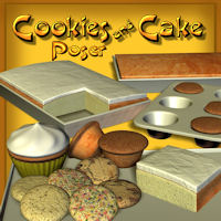 Cookies  And Cake 3D Models pappy411