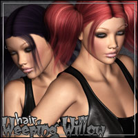 Weeping Willow Hair 3D Figure Assets outoftouch