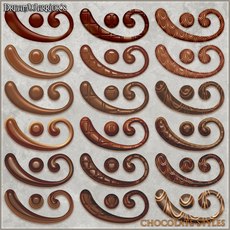 DW - Chocolate Styles for Photoshop