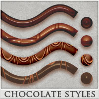 DW - Chocolate Styles for Photoshop 2D DreamWarrior
