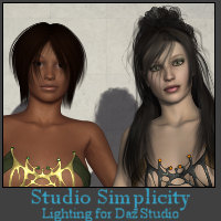 Studio Simplicity Lights for Daz 3D Lighting : Cameras Khory_D
