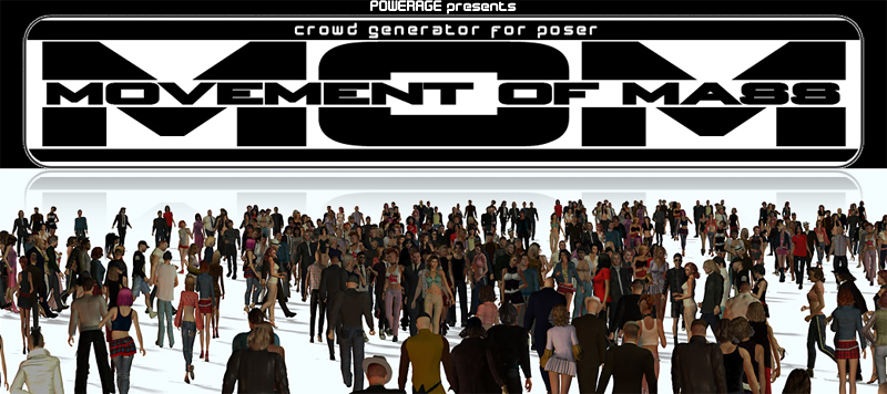 M O M Crowd generator 3D Models 3D Figure Assets powerage