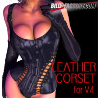 V4 Leather Corset 3D Figure Assets billy-t