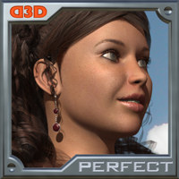 D3D Perfect Skin 2 - Poser Python Script Software 2D 3D Figure Essentials Dimension3D