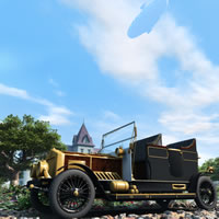 Steampunk Automobile for Bryce 3D Models 3D Figure Assets chikako