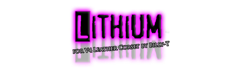 Lithium for V4 Leather Corset