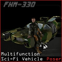 FHM-330 - SciFi Vehicle Themed Props/Scenes/Architecture Transportation 3-d-c