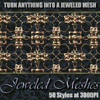 Jeweled Meshes - Photoshop Styles 2D And/Or Merchant Resources designfera