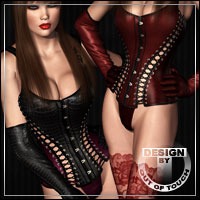 ELECTRICITY for V4 Leather Corset by billy-t 3D Figure Assets outoftouch