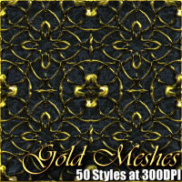 Gold Meshes - Photoshop Styles 2D And/Or Merchant Resources designfera