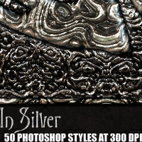 In Silver - Photoshop Styles 2D Graphics designfera