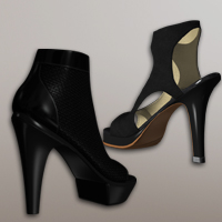 Two High-Heel Shoes V4/A4/G4 Footwear 3D-Age