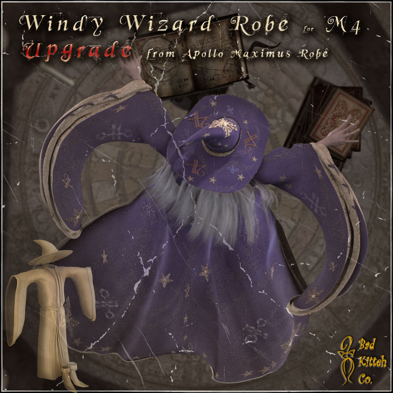 M4 Windy Wizard Robe UP