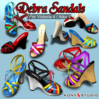 Debra Sandals for V4/A4 3D Figure Essentials kony