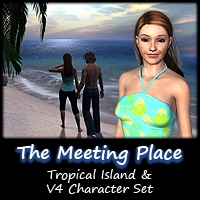 The Meeting Place- Tropical Island & Character Props/Scenes/Architecture Characters Poses/Expressions SamDillard