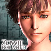 MH Zowie for M4H4 3D Figure Assets 3D Models Extended Licenses manihoni