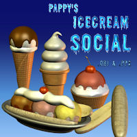IceCream Social 3D Models pappy411