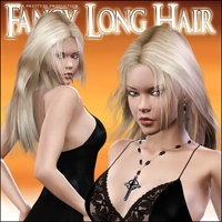 Fancy Long Hair 3D Figure Assets 3D Models Pretty3D