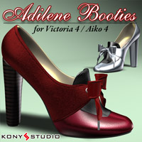 Adilene Booties for V4/A4 3D Figure Assets kony