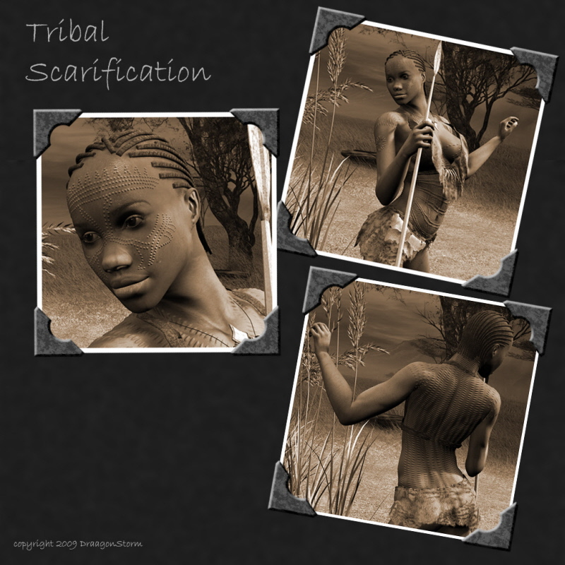 Tribal Scarification for M4 and V4