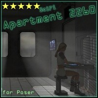 Apartment 2260 by 3-D-C 3D Models 3D Figure Assets 3-d-c