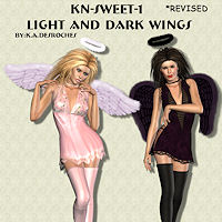 KN-Angelic-1 LightAndDarkWings_Revised by TheKatster