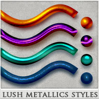 DW - Lush Metallics Styles for Photoshop 2D Graphics DreamWarrior