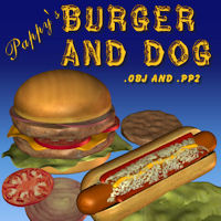 Burger And Dog 3D Models pappy411