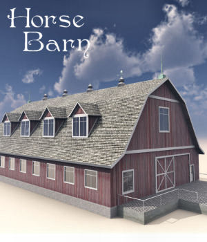 Horse Barn Props/Scenes/Architecture DreamlandModels