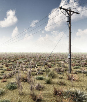 Power Lines and Poles 3D Models DreamlandModels