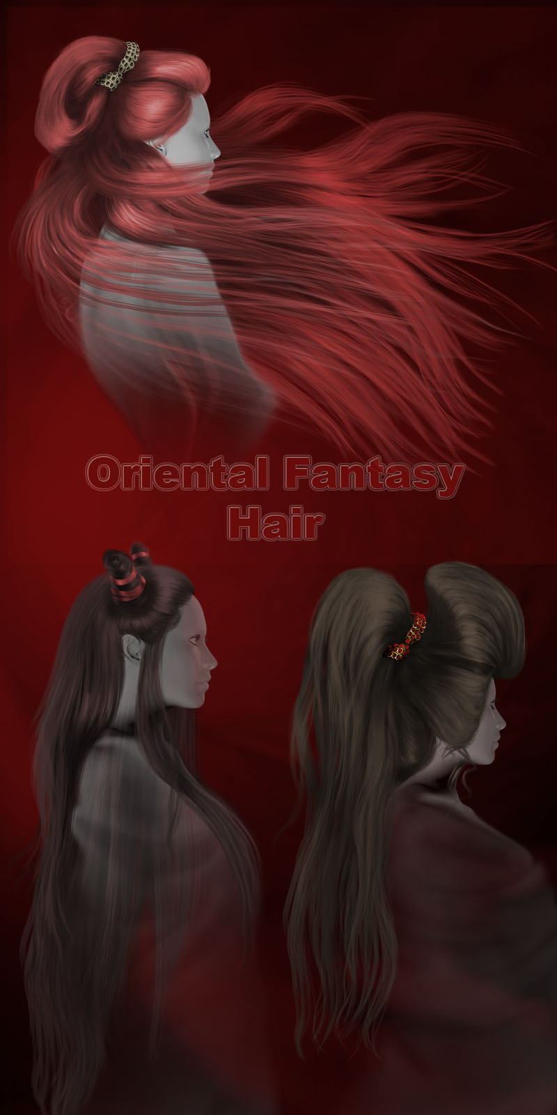 Oriental Fantasy hair by StudioArtVartanian