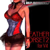V4 Leather Corset 2 3D Figure Assets billy-t