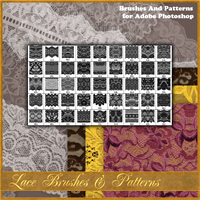 Lace Brushes & Patterns 2D And/Or Merchant Resources Atenais