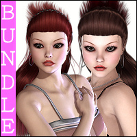 Dollie Bundle Hair Characters rebelmommy