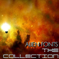 Alien Fonts - The Collection Themed designfera