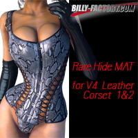 Rare Hide MAT for Leather Corset 3D Figure Assets billy-t