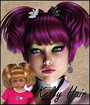 Kelly Hair V4A4G4K4, Mavka & Natu 3D Figure Assets RPublishing