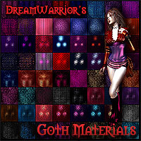 DW - Goth Materials for Poser 3D Models 3D Figure Essentials 2D DreamWarrior