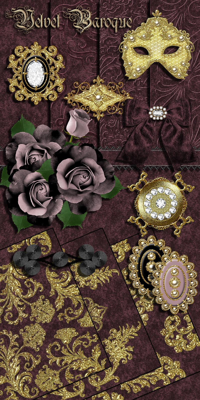 Sew and Sew Velvet Baroque
