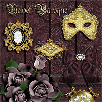 Sew and Sew Velvet Baroque 3D Figure Assets 2D Graphics 3D Models macatelier